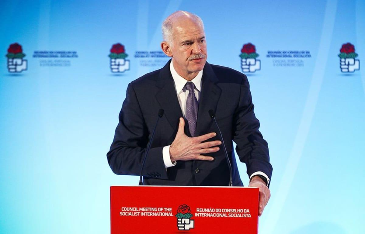 Kreaikan entinen pääministeri Georgios Papandreou helmikuussa 2013.
