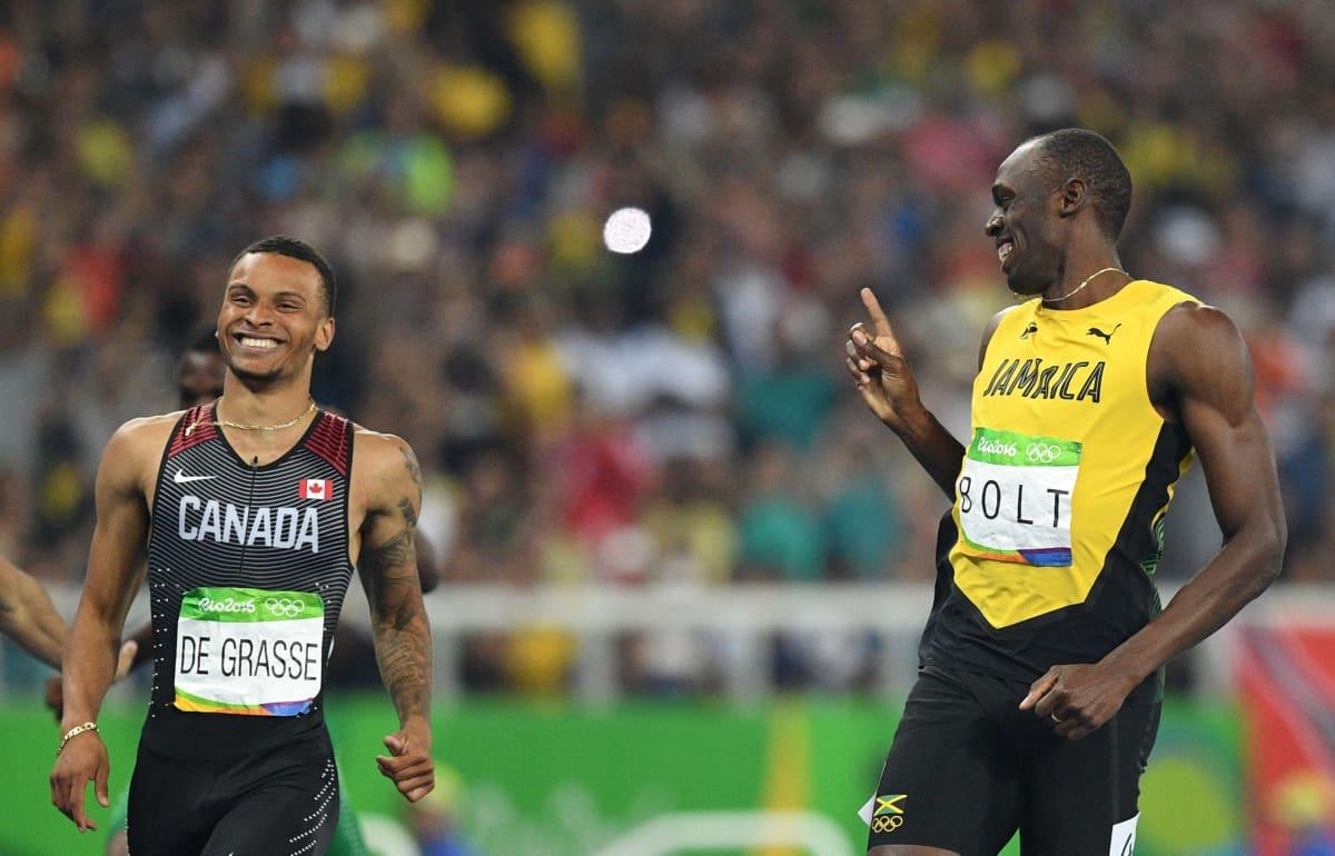 De Grasse ja Bolt Riossa 2016.