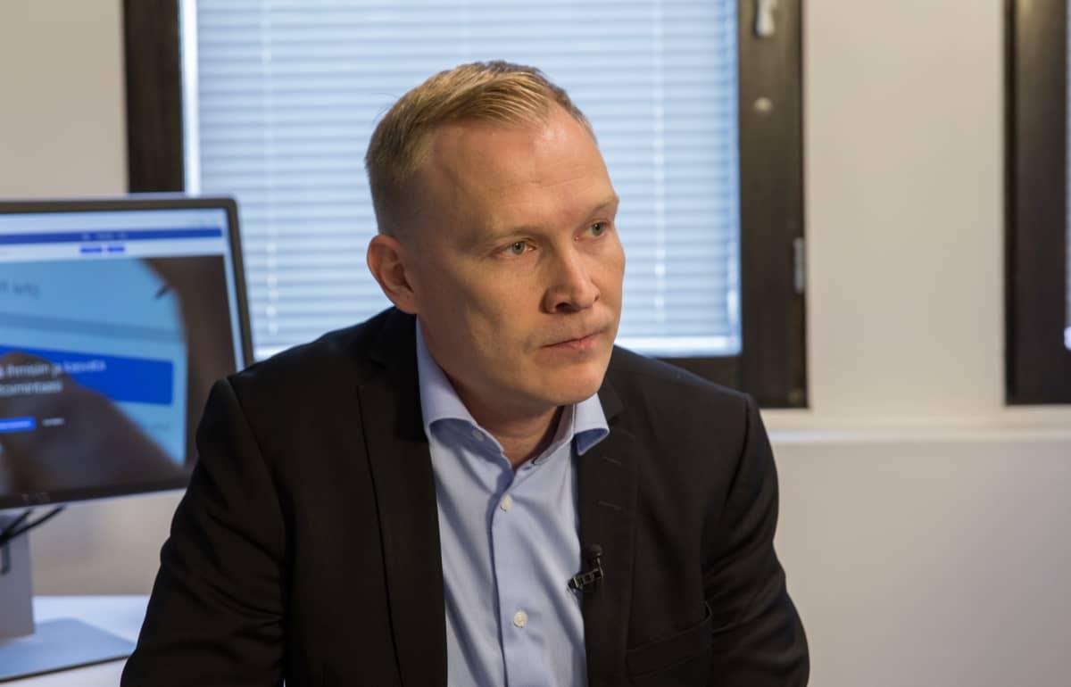 Jarkko Saarimäki / Viestintävirasto johtaja / Viestintävirasto johtaja / Facebook vuoto / Pasila 29.09.2018