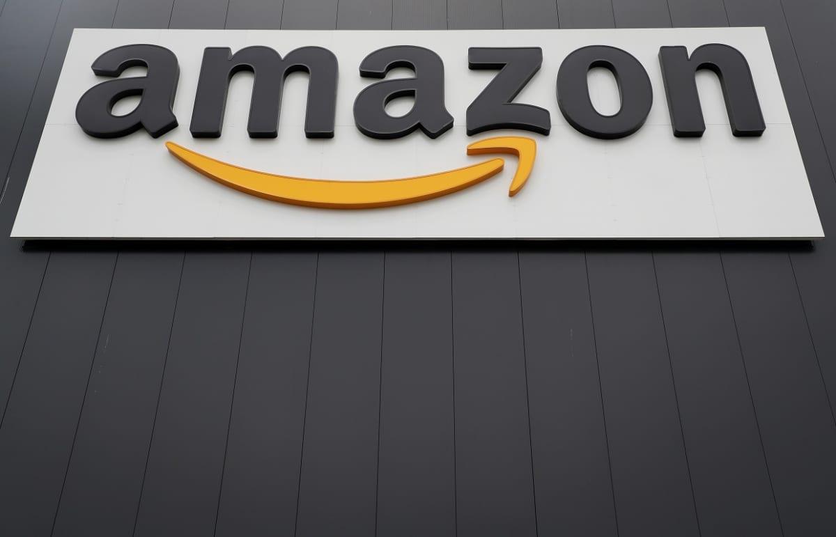 Amazon-yhtiön kyltti Saksan Wernessä.