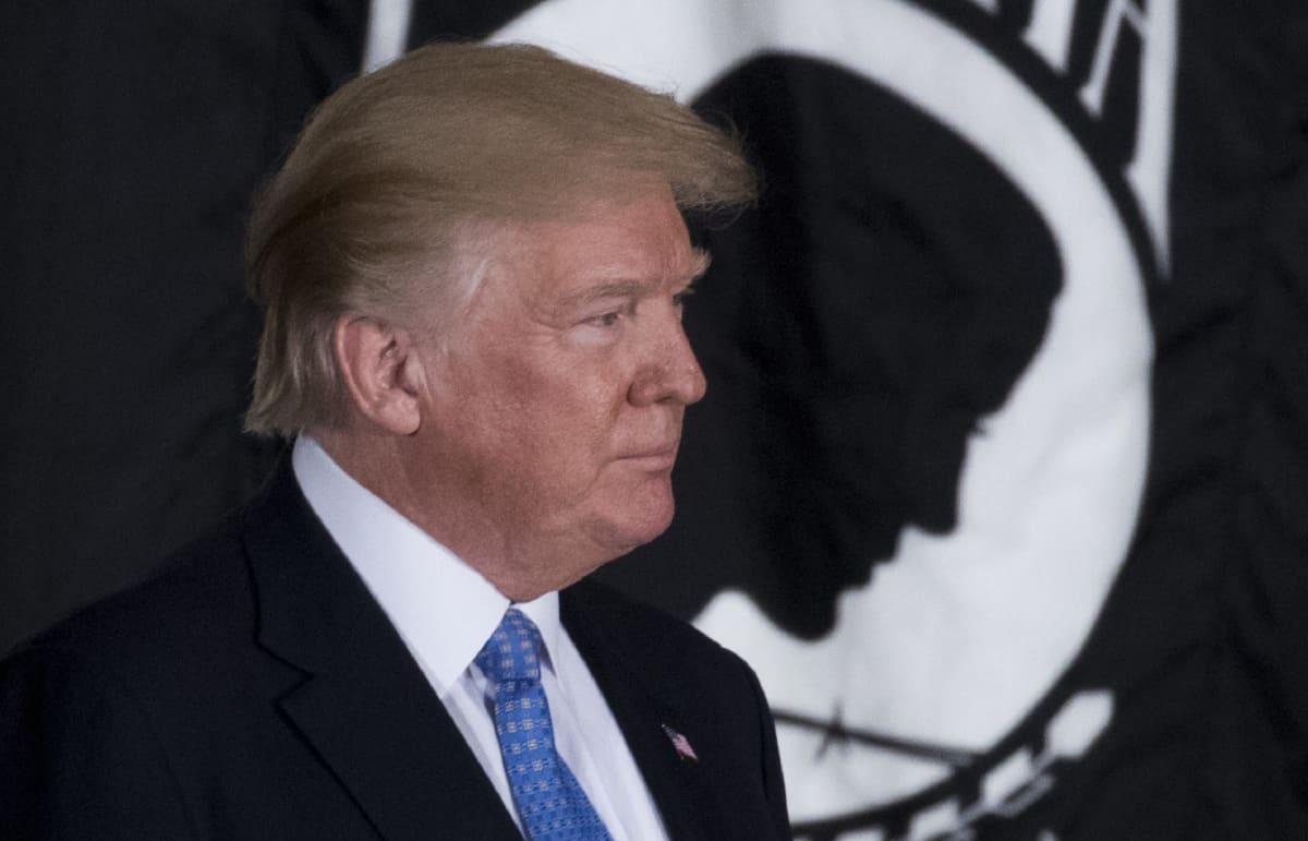 Kuvassa on Yhdysvaltain presidentti Donald Trump.