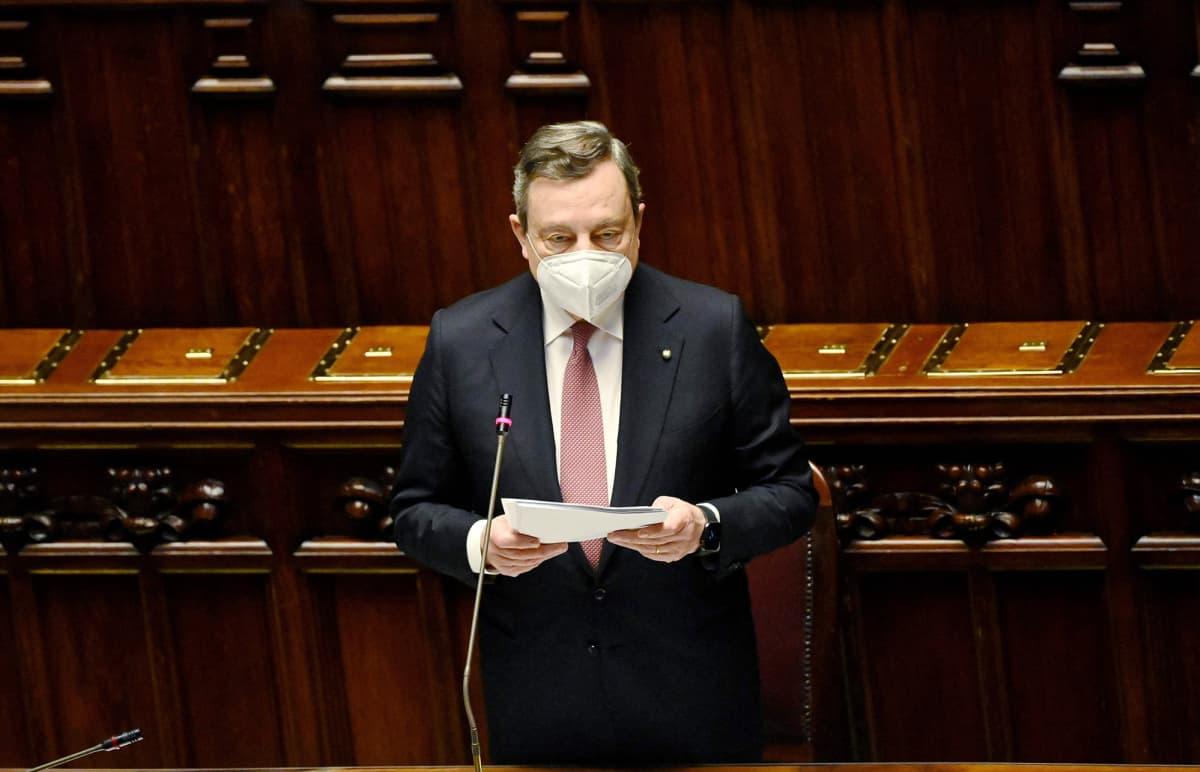 Italian pääministeri Mario Draghi esitteli talouden pelastussuunnitelman.