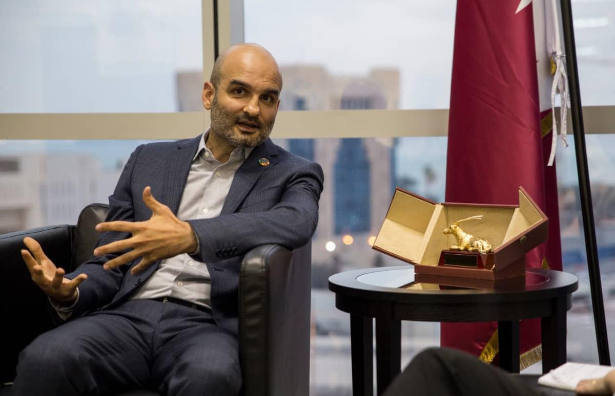 Kansainvälisen työjärjestön Qatarin-toimiston johtaja Houtan Hamanyonpourm