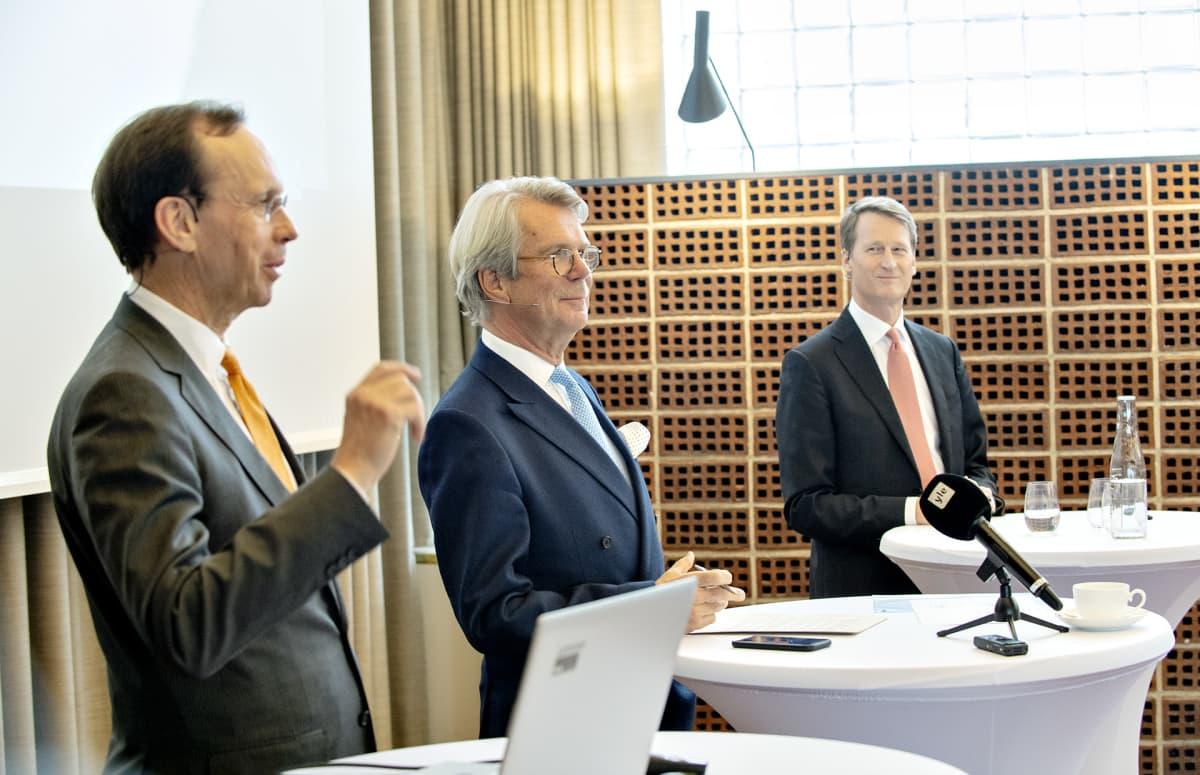 Kari Stadigh, Björn Wahlroos ja Torbjörn Magnusson.