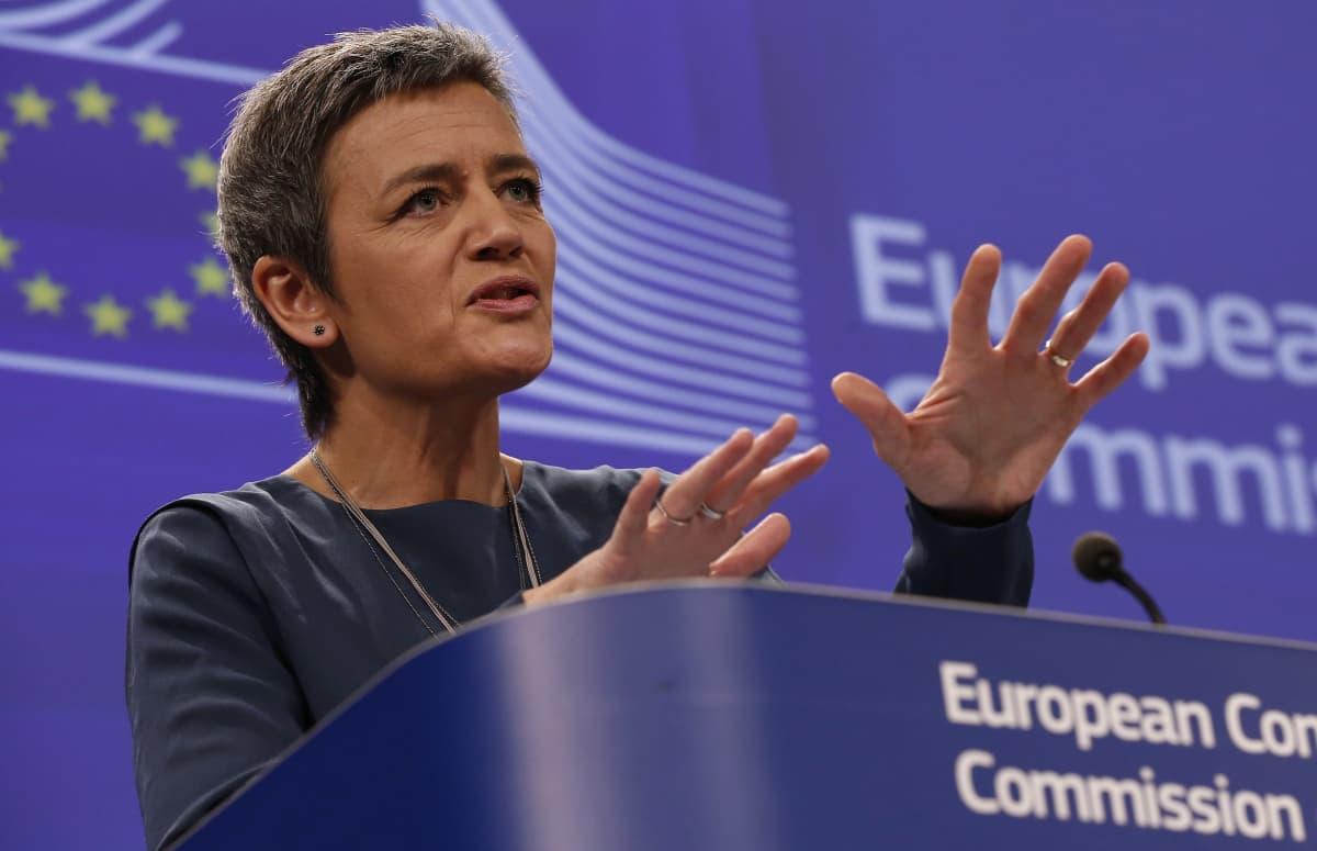 Kilpailukomissaari Margrethe Vestager.