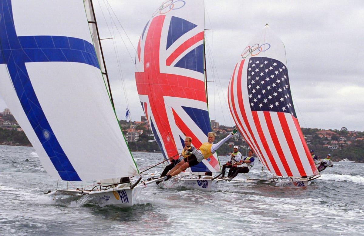 Thomas Johanson ja Jyrki Järvi Sydneyn olympialaisissa 200