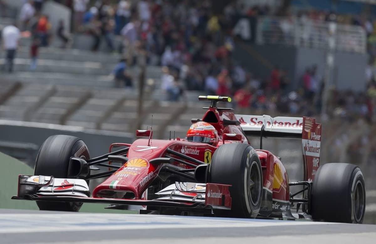 Ferrarin Kimi Räikkönen Brasilian GP:n harjoituksissa