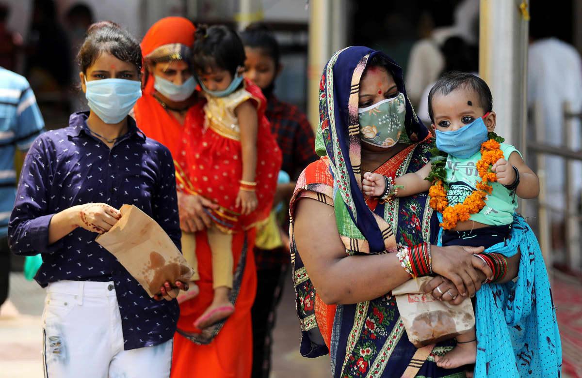Kuvassa on näkymä Delhiin.