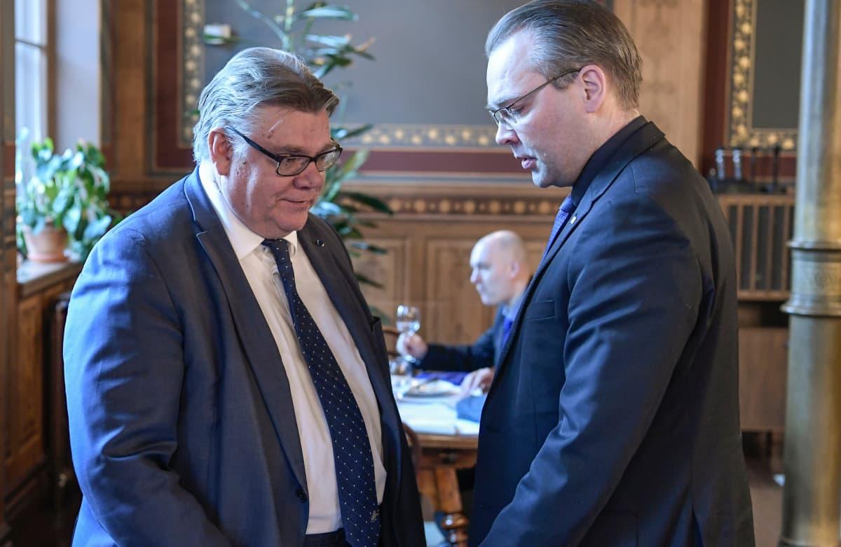 Timo Soini ja Jussi Niinistö