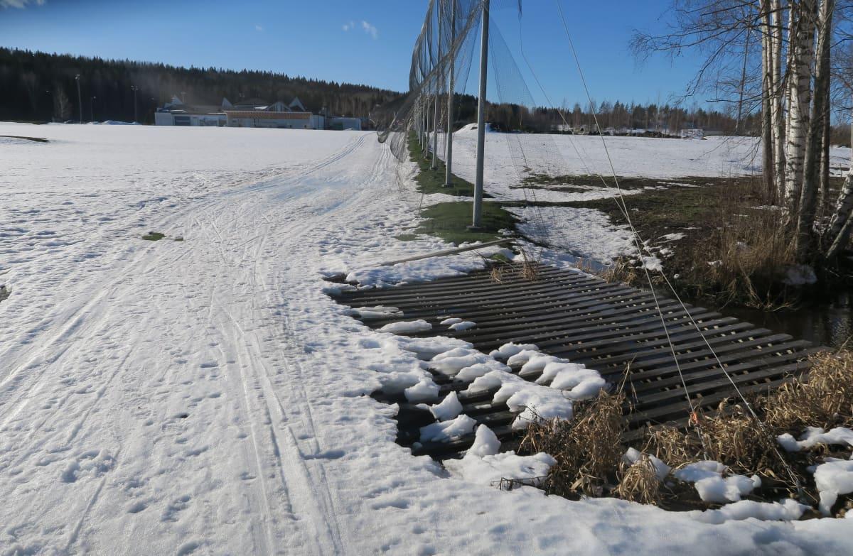 Hattula Golfin kenttä maaliskuussa 2021