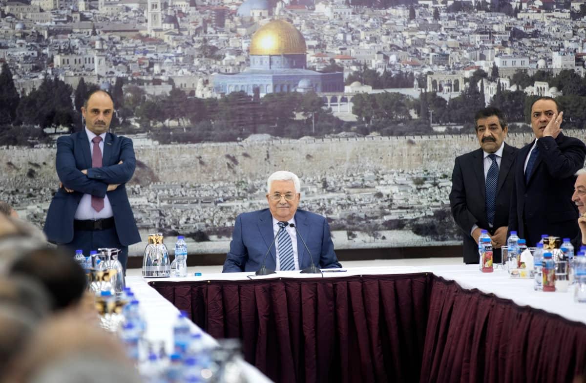 Palestiinalaishallinnon presidentti Mahmoud Abbas