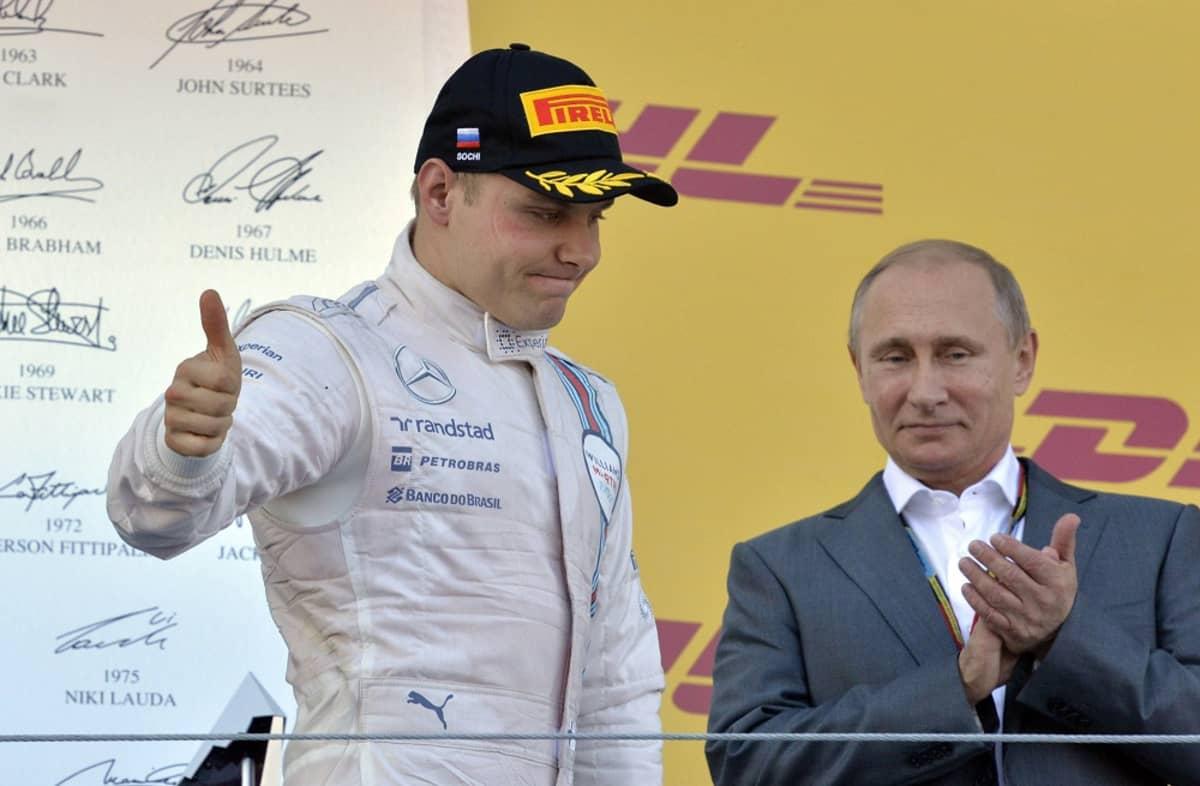Valtteri Bottas ja Vladimir Putin