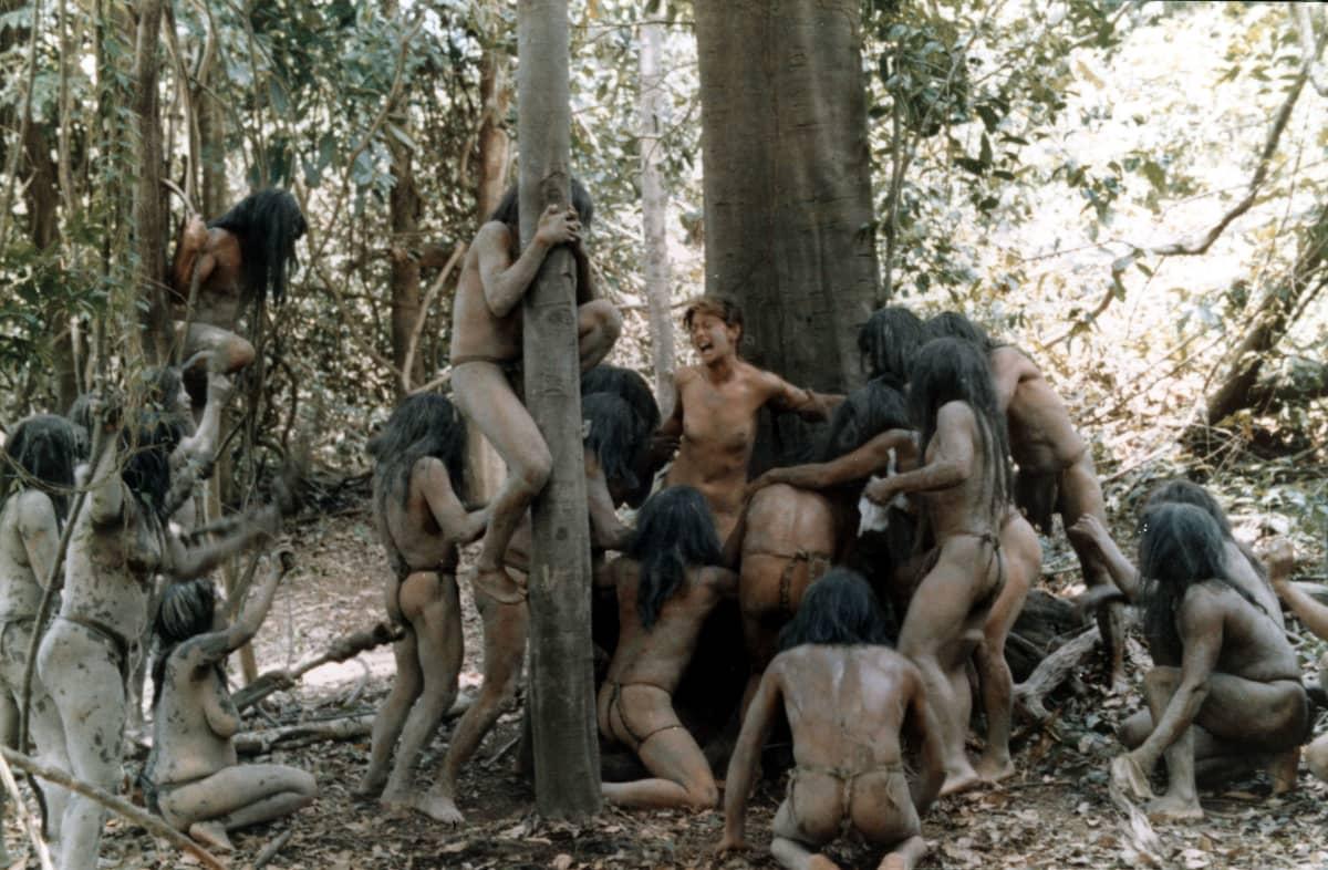 Kohtaus elokuvasta Cannibal Holocaust (1980)