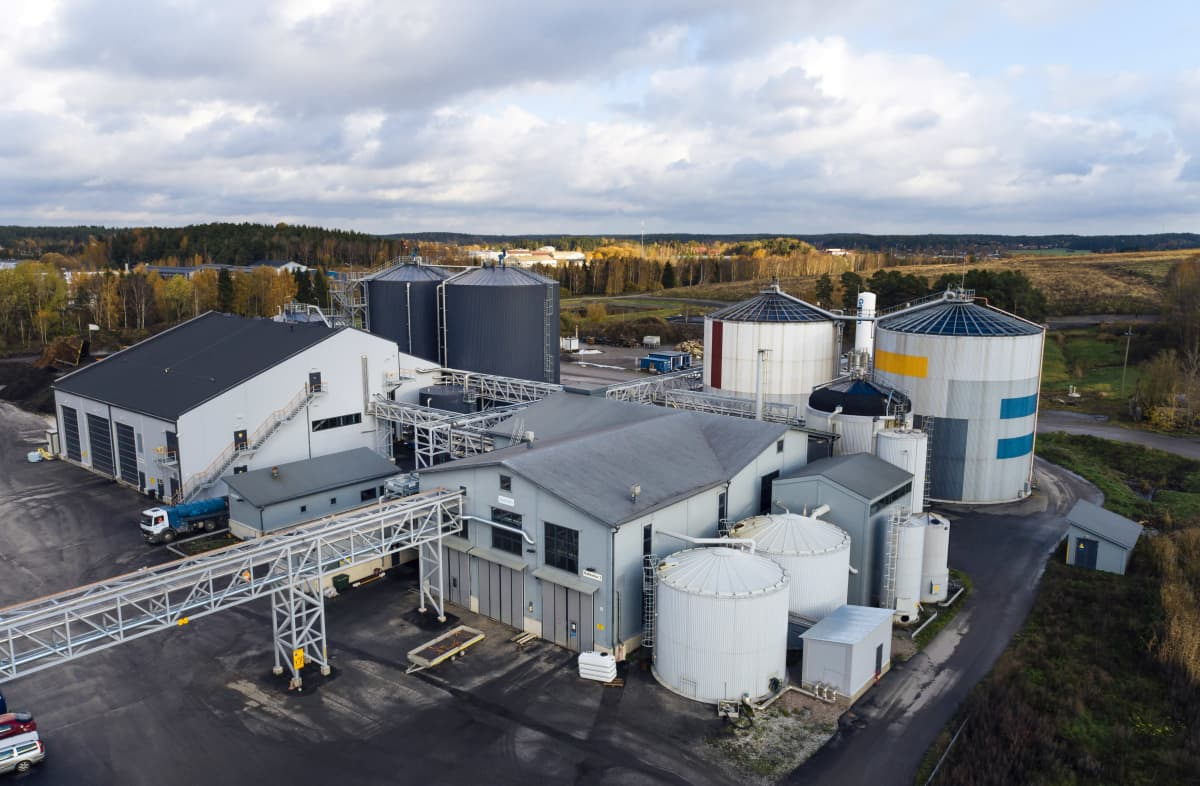 Gasumin biokaasulaitos Turun Topinojalla.