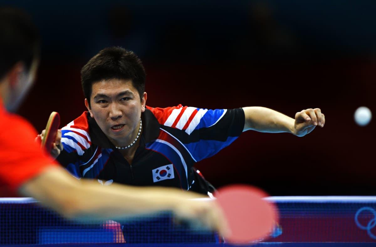 Ryu Seung-min pelaamassa olympialaisissa.