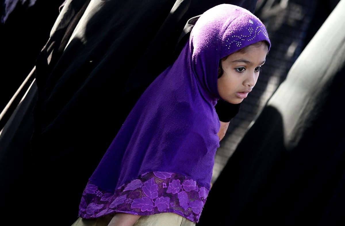 Intialainen muslimityttö