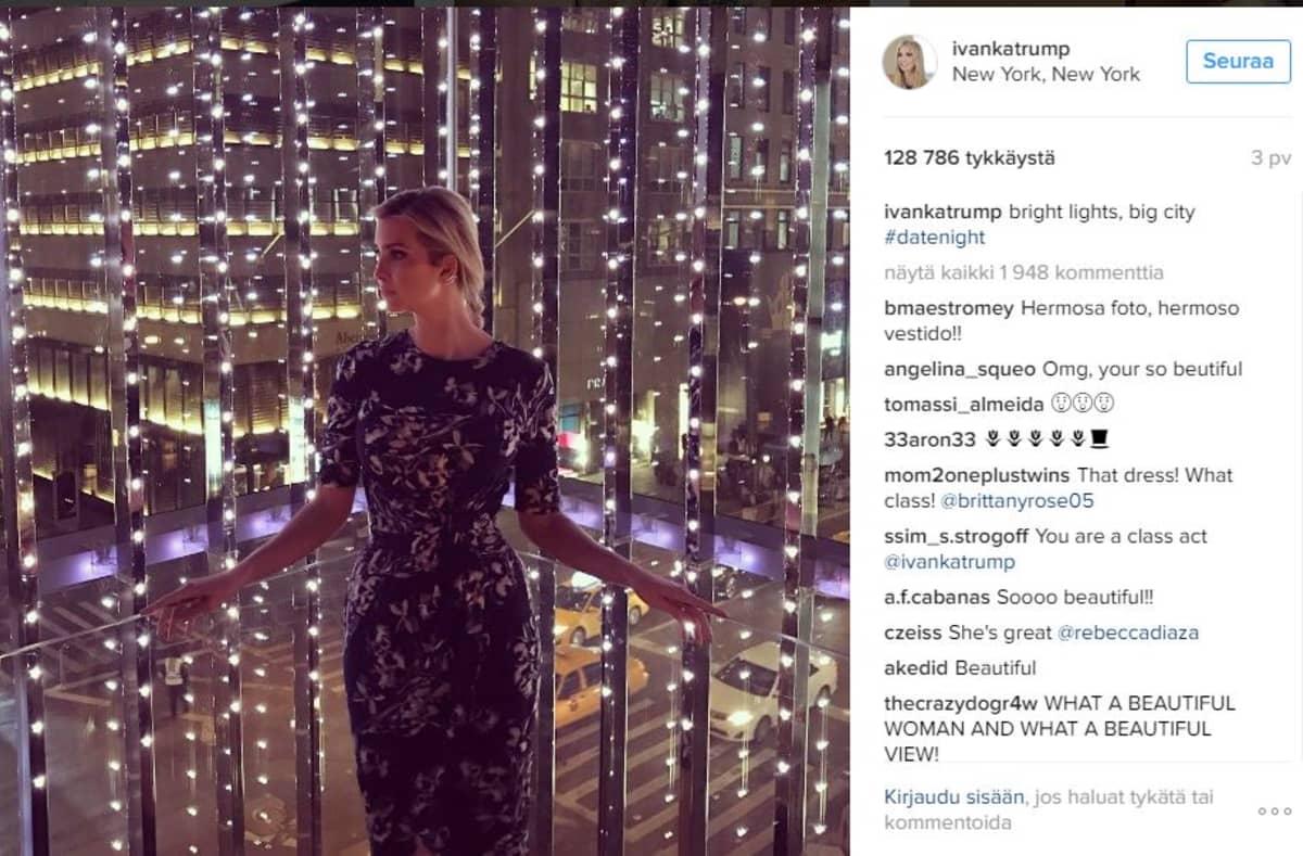Ivanka Trump kertoo usein elämästään Instagram-tilillään.