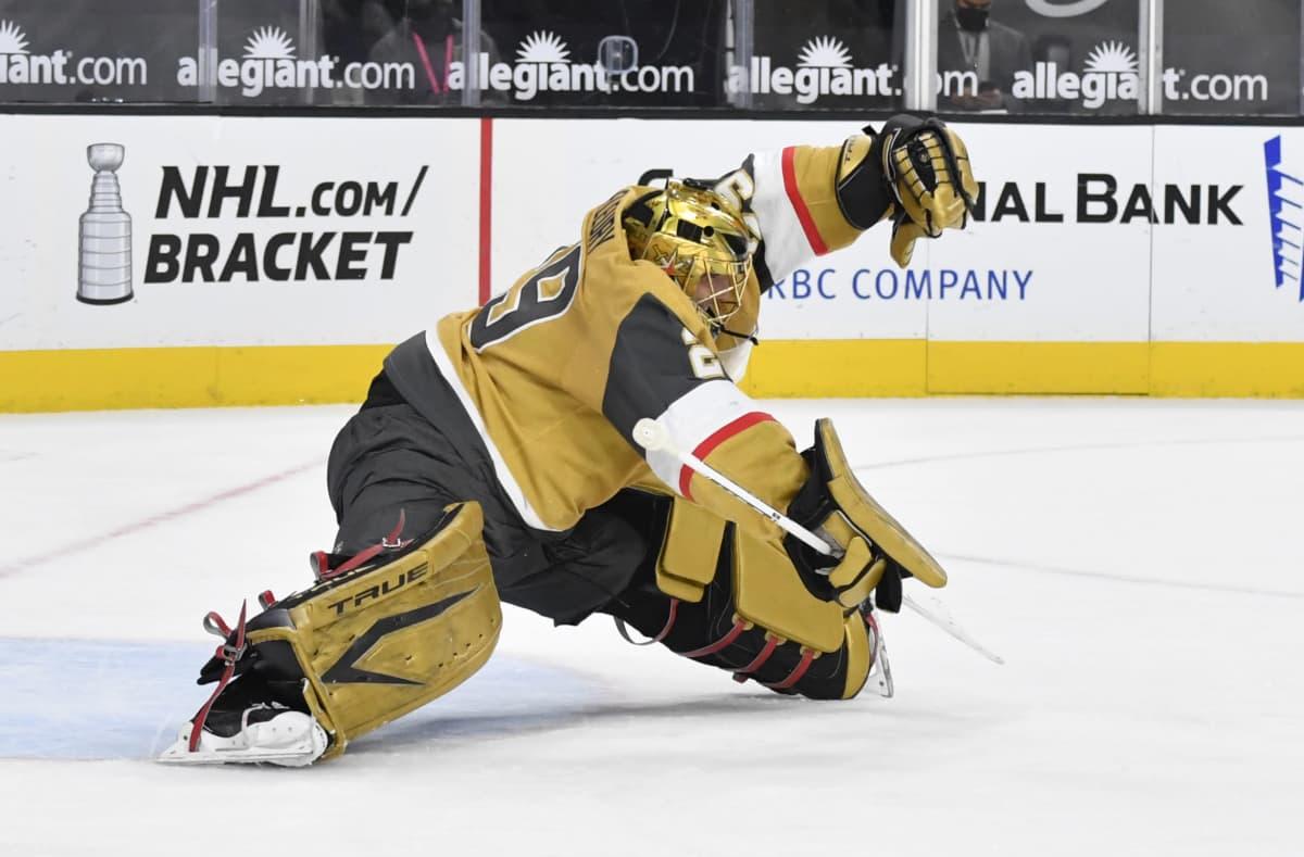 Vegas Golden Knightsin maalivahti Marc-Andre Fleury.