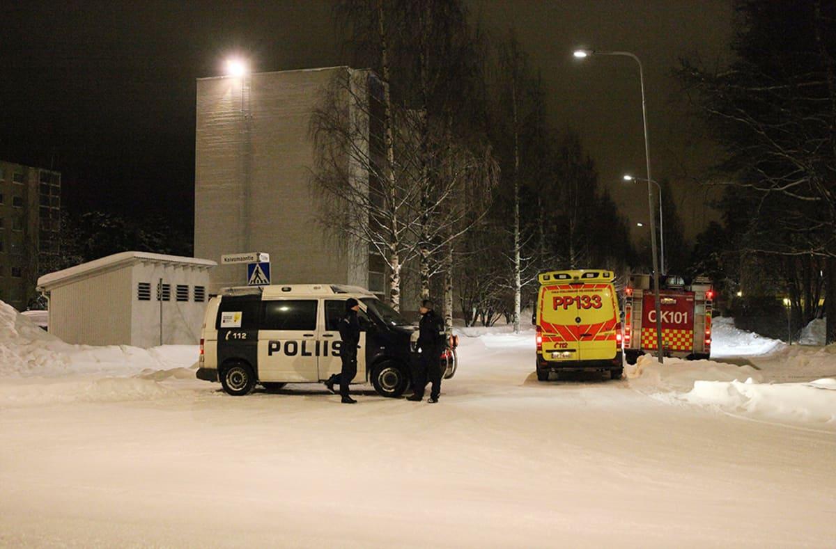 Oulun Myllyojalla oli suuri poliisioperaatio 14. tammikuuta.