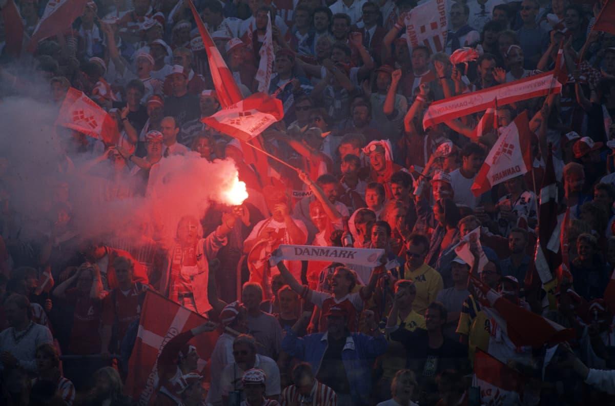 Tanskalaiset juhlivat vuonna 1992