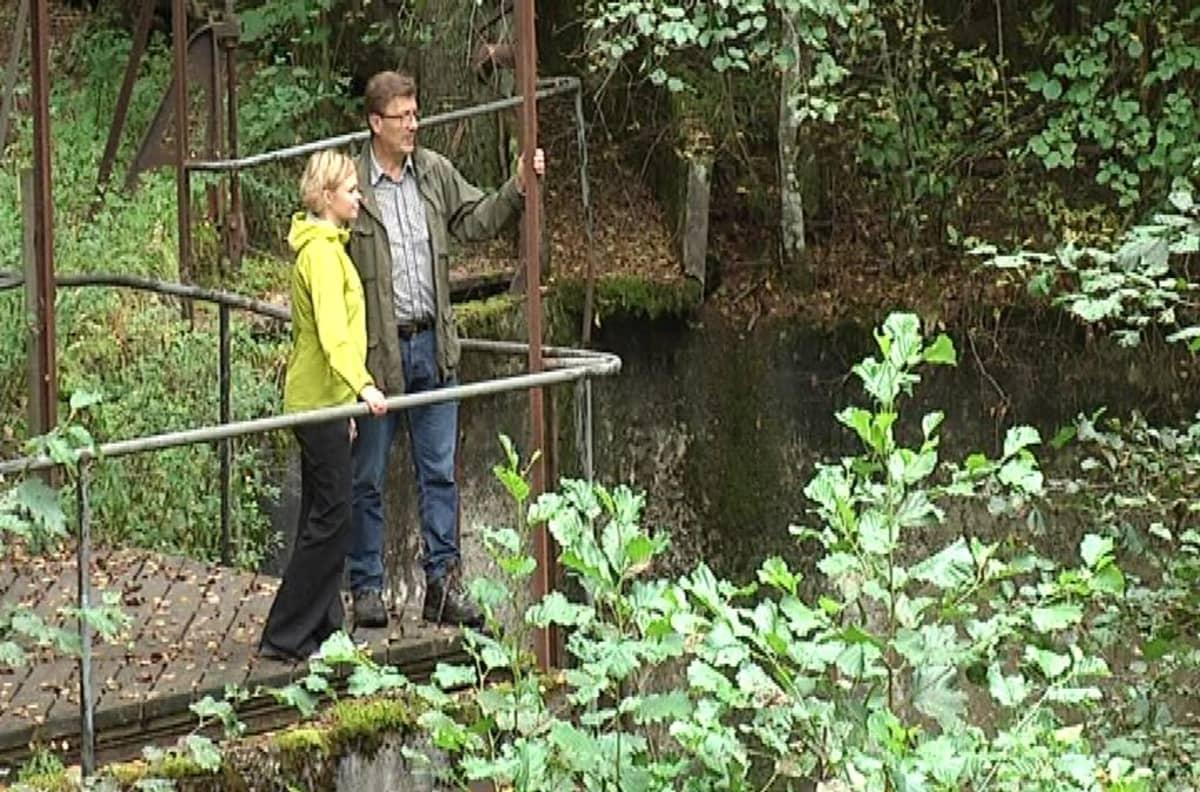 Fiskarsin uuden luontopolun varrella on muun muassa 1800-luvulla rakennettu Risslan pato.