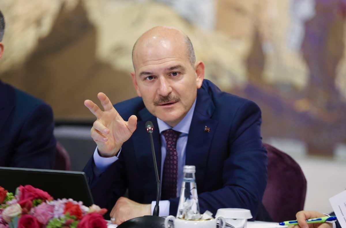 Turkin sisäministeri Suleyman Soylu.