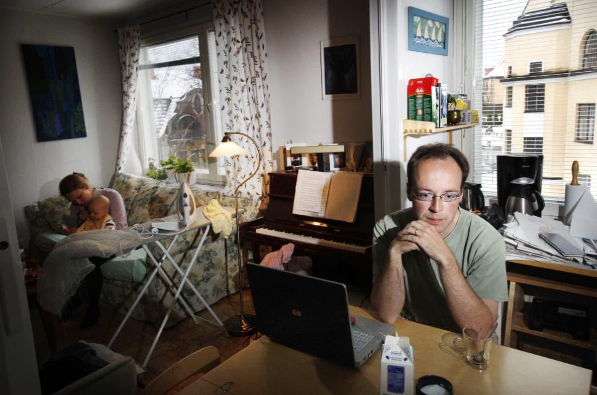 Jussi ja Hilla halla-aho vuonna 2008.