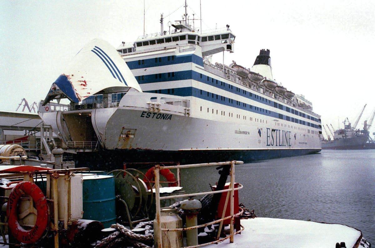 M/S Estonia Tallinnan satamassa, kuva päiväämätön