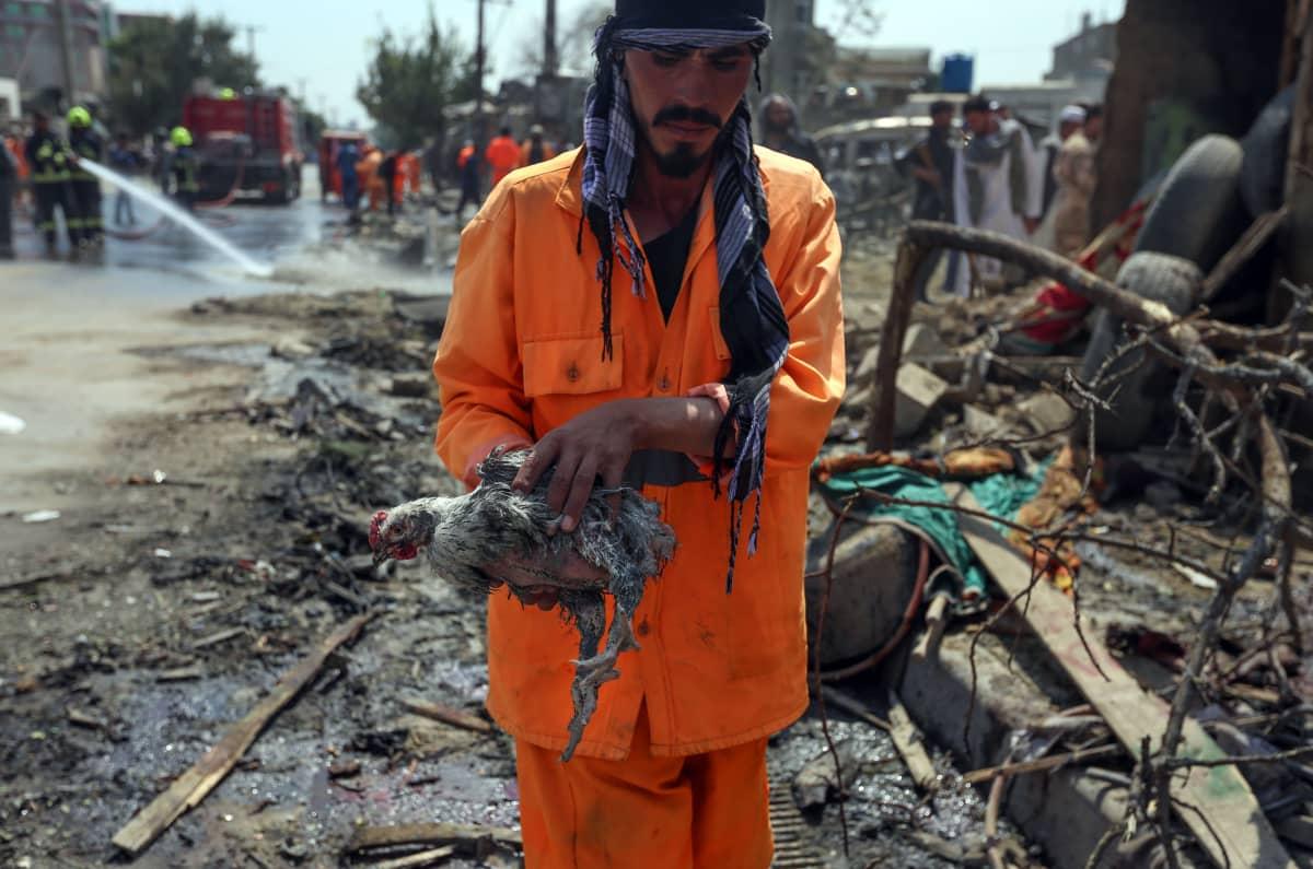 Kabul Afganistan räjähdys 9.9.2020