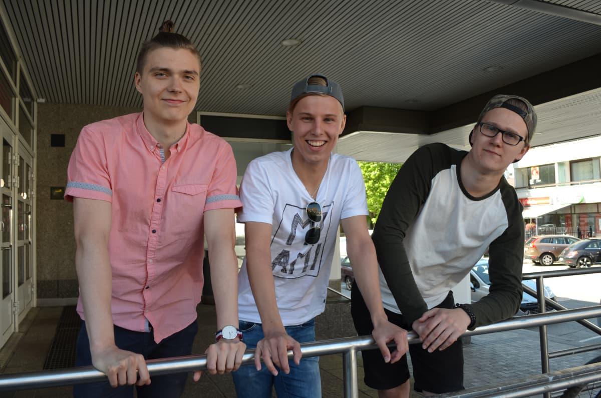 Planet Casen Tuomas Kätkänaho, Aleksi Yli-Sissala ja Otto Nyyssölä.