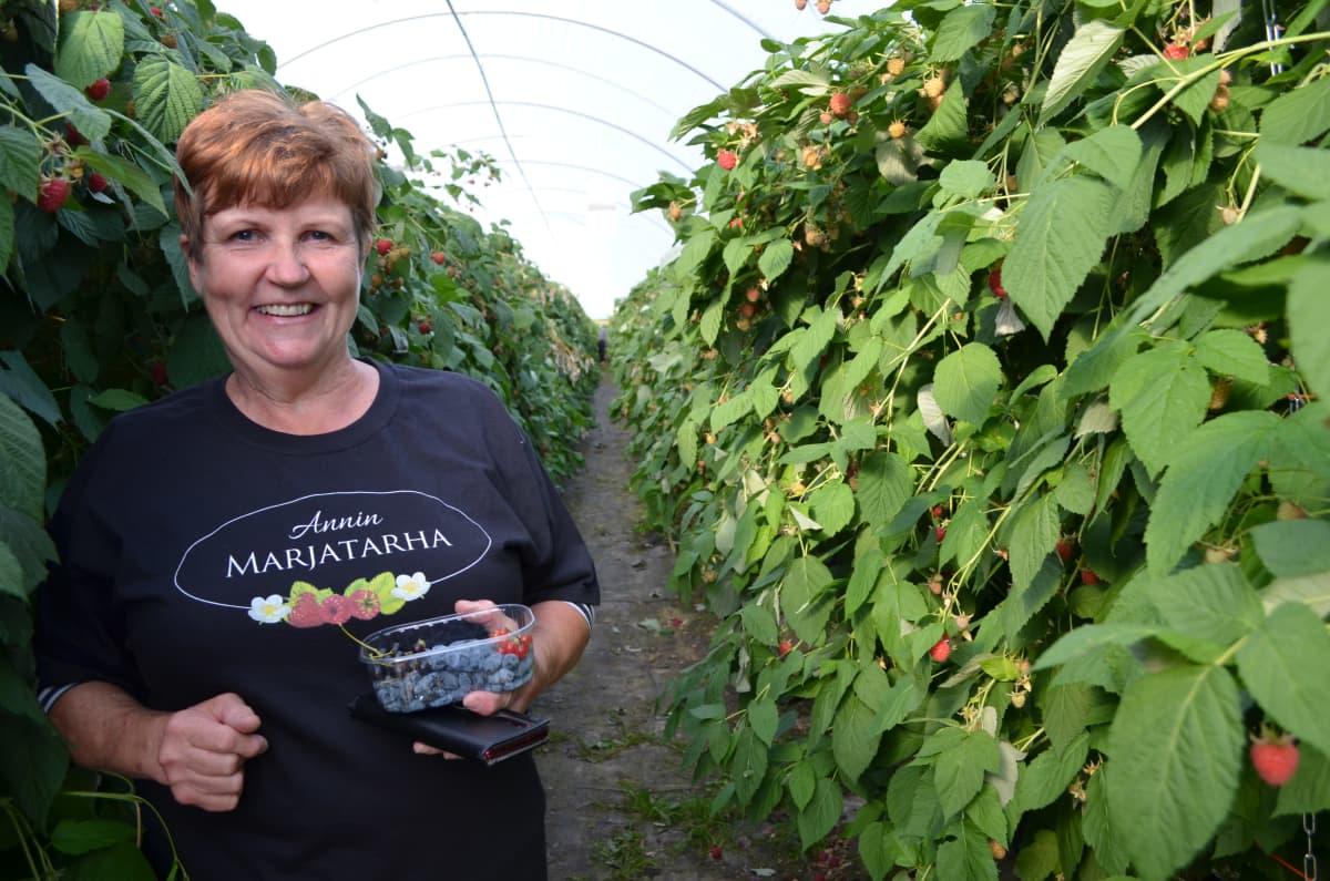 Arja Raatikainen on Annin marjatarha -yrityksen yrittäjä