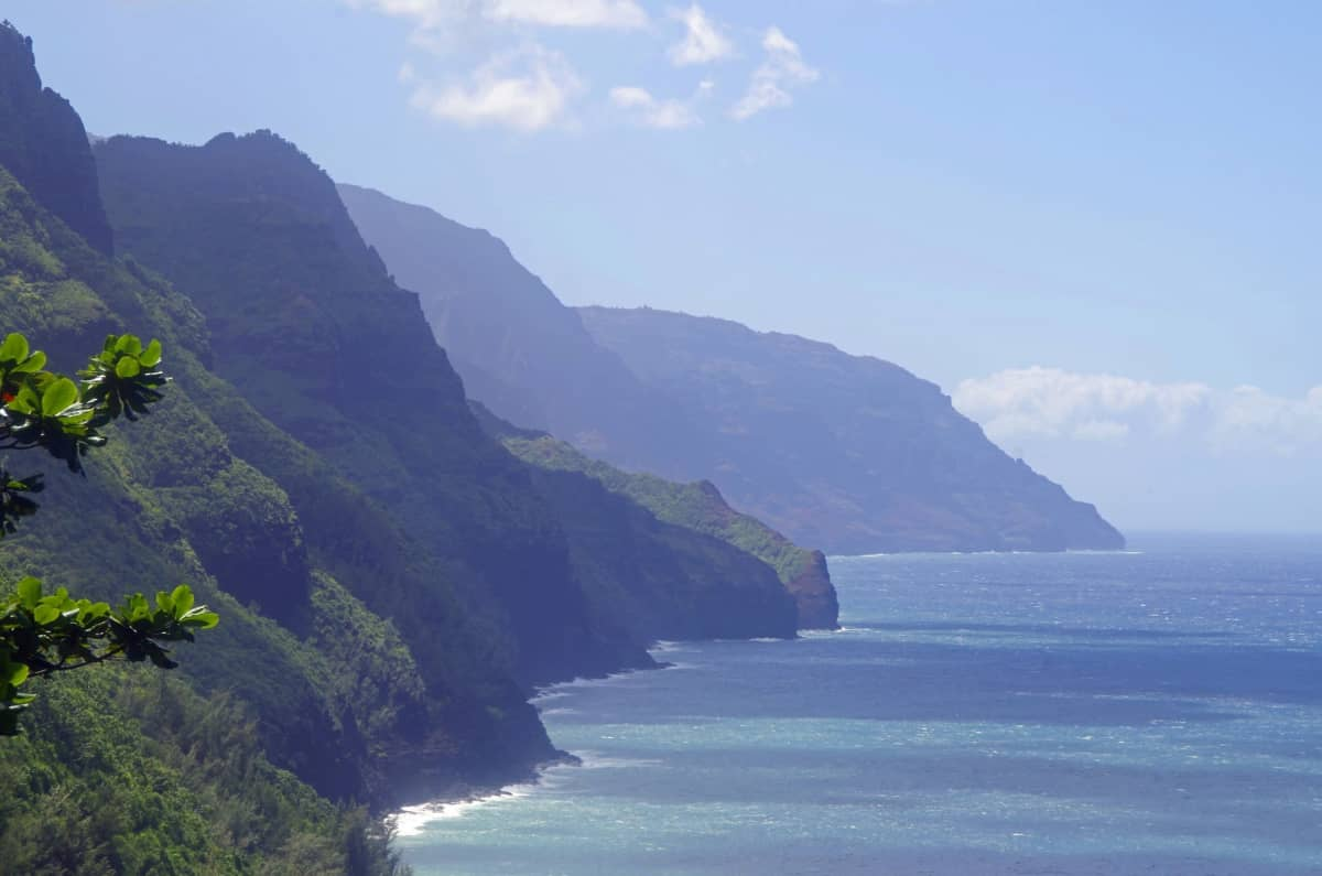 Na Palin rannikkoalue Havaijilla.