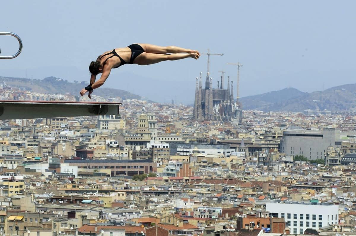 Uimahyppääjä Barcelonassa