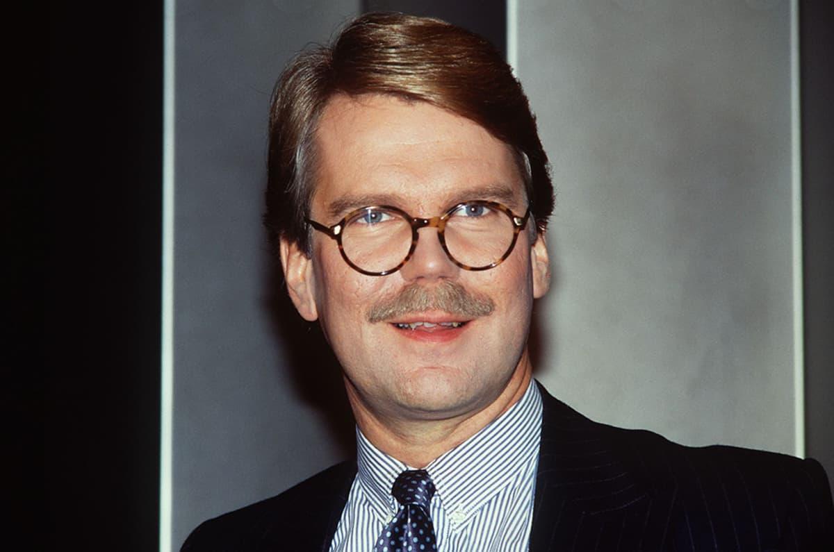 Björn Wahlroos 22. syyskuuta 1992 toimiessaa Suomen yhdyspankin varatoimitusjohtajana.