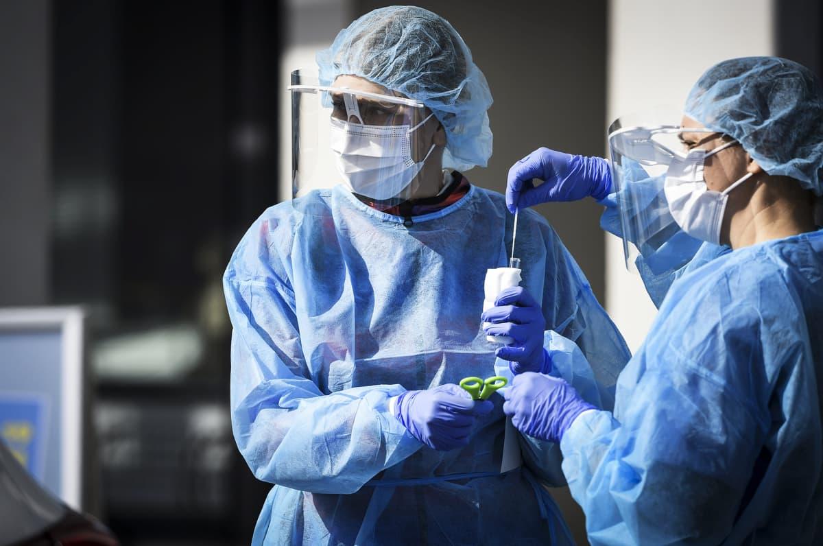 Vantaan kaupungin koronaviruksen drive in -testauspiste Pakkalassa