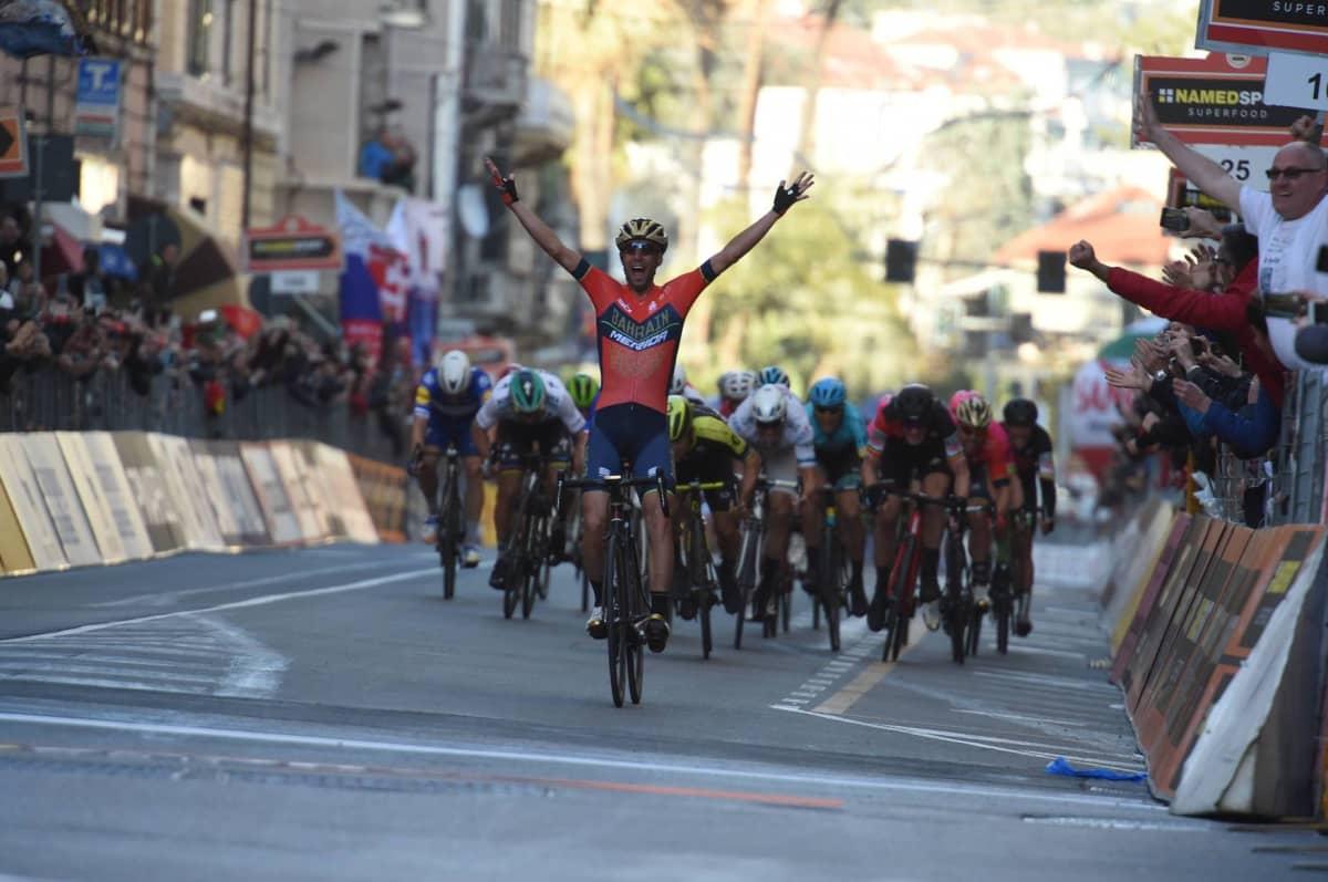 Vincenzo NIbalia voittaa Milano–San Remon.