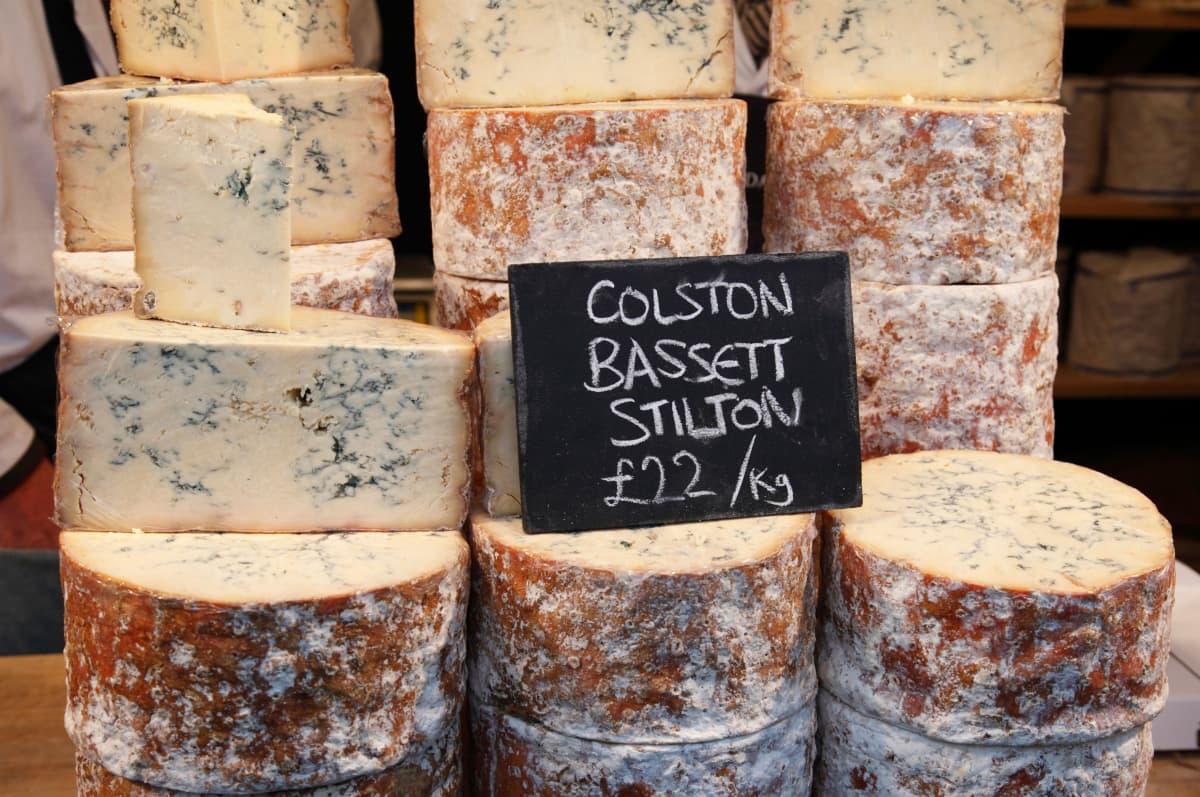 Stilton-juustoa