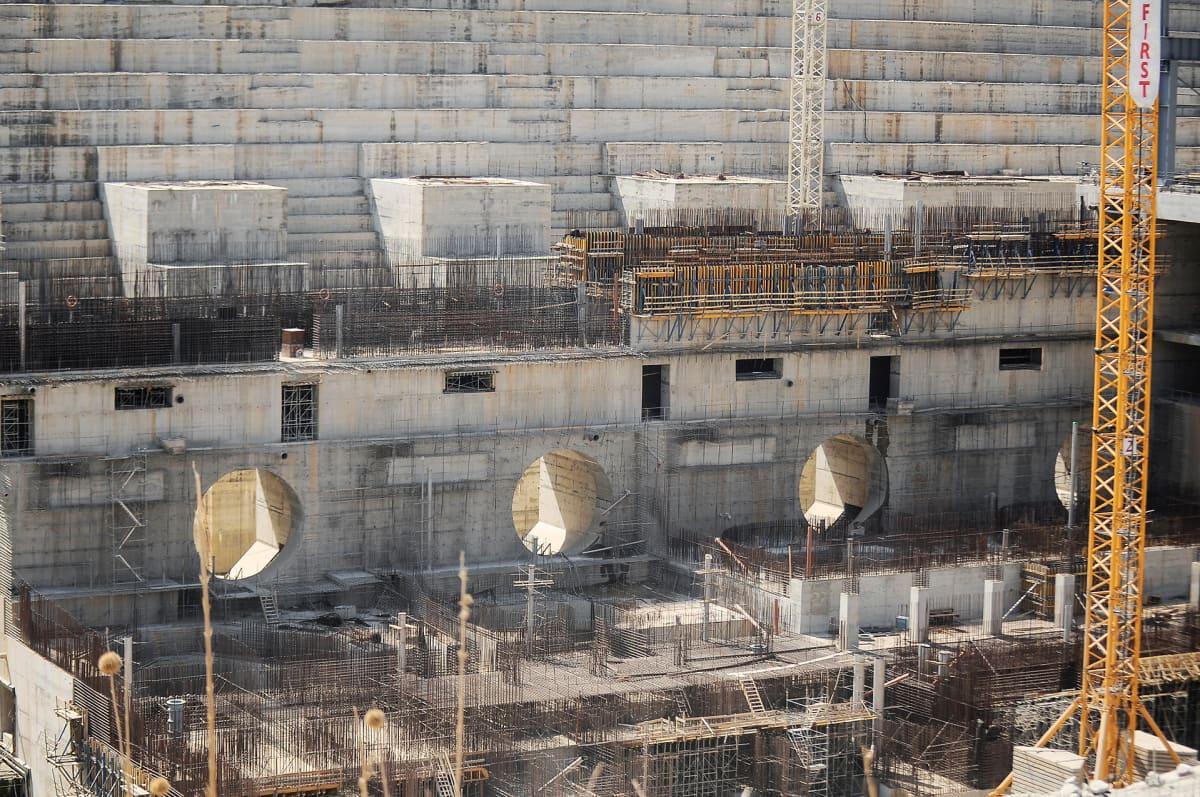 Padon rakennustyömaa Etiopian Guba Woredassa.