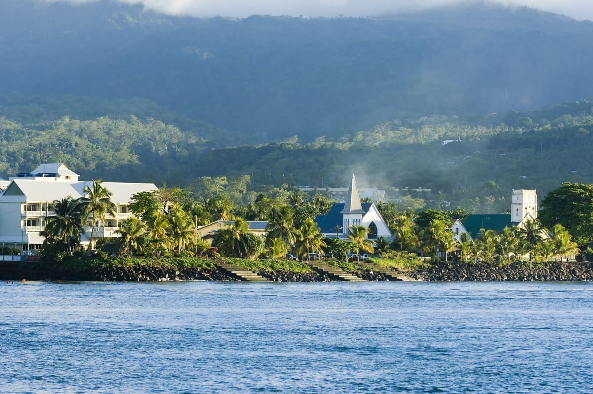 Kuva Samoan pääkaupungista Apiasta.