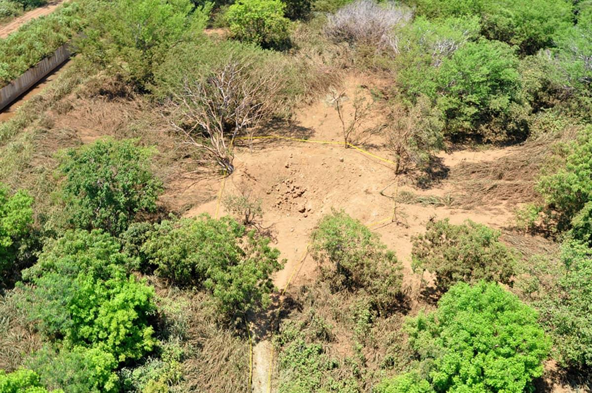 12 metriä leveä kuoppa Nicaraguassa.