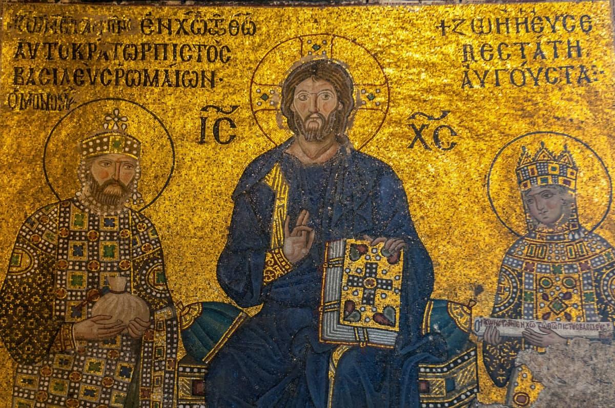 Jeesusta esittävä mosaiikki