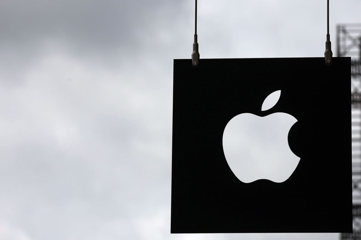 Applen New Yorkin -myymälän logo 23. heinäkuuta.