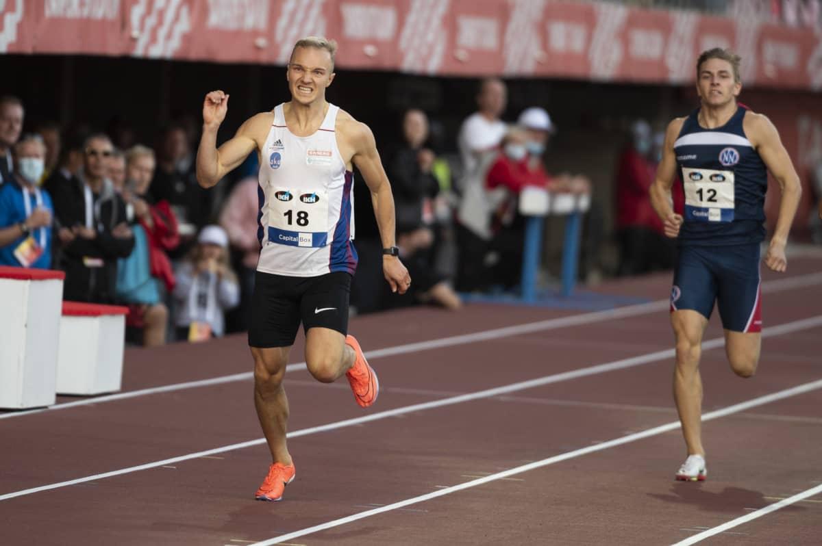 Viljami Kaasalainen juoksi kalevan kisoissa hopealle