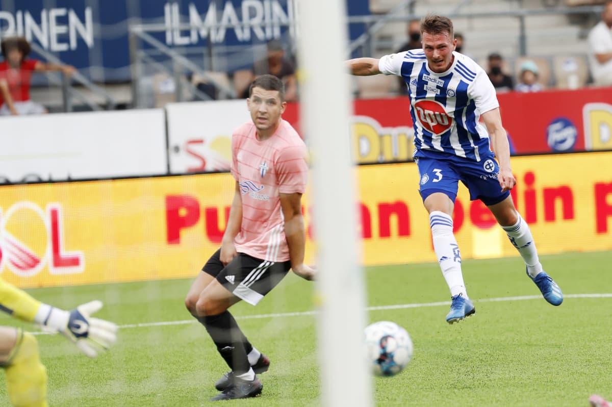 HJK:n Janne Saksela viimeisteli 2–0-maalin.