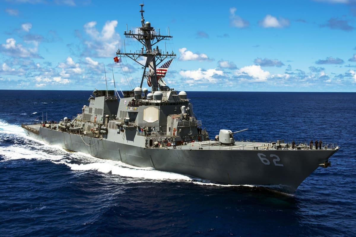 Yhdysvaltain laivaston hävittäjä USS Fitzgerald.