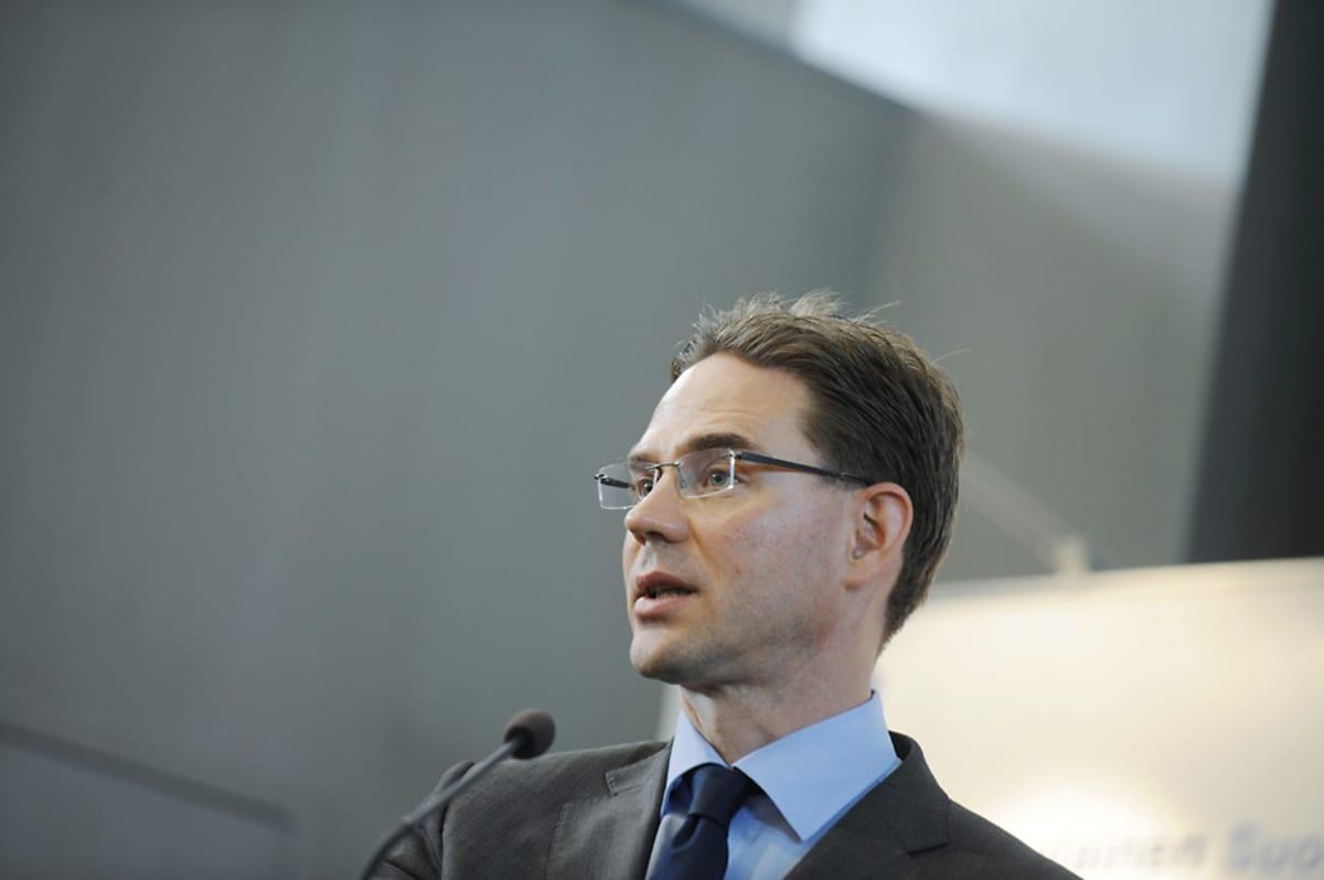 Pääministeri Jyrki Katainen puhui Eurooppa-neuvoston jälkilöylyt -seminaarissa Helsingissä 1. heinäkuuta.