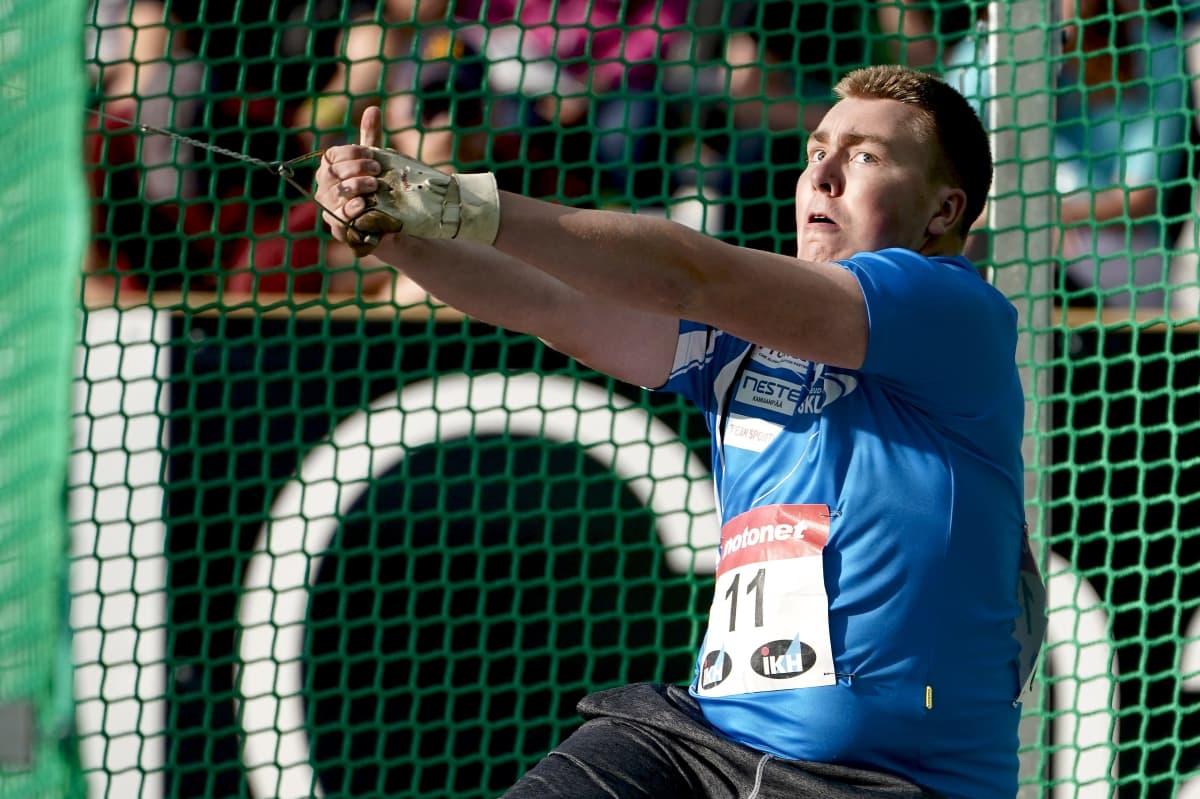 Aaron Kangas on Suomen miesten menestystoivoja.