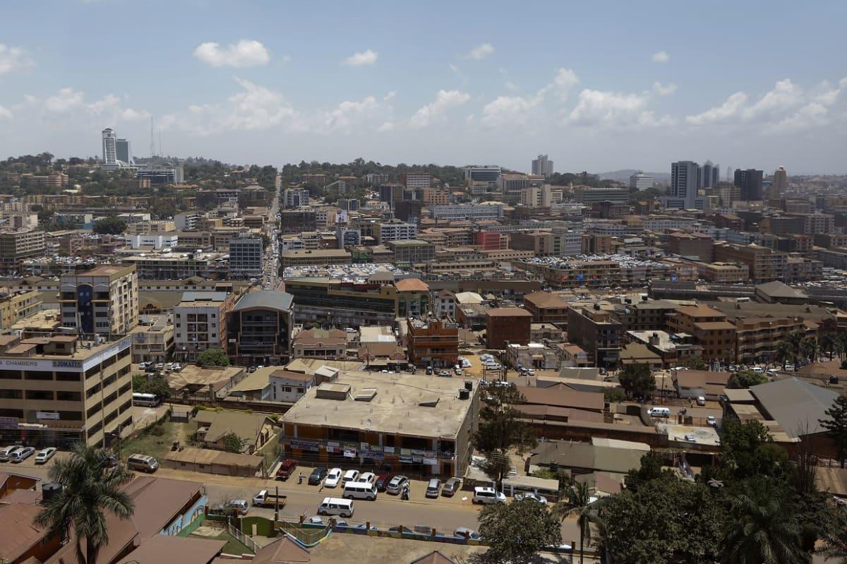 Ugandan pääkaupunki Kampala helmikuussa 2016.