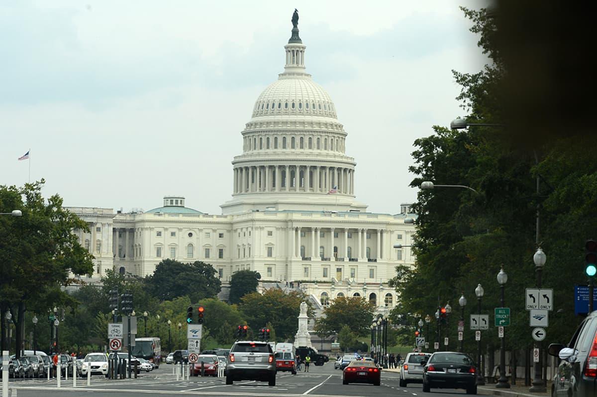 Capitol Hill Washington D.C.:ssä 3. lokakuuta.
