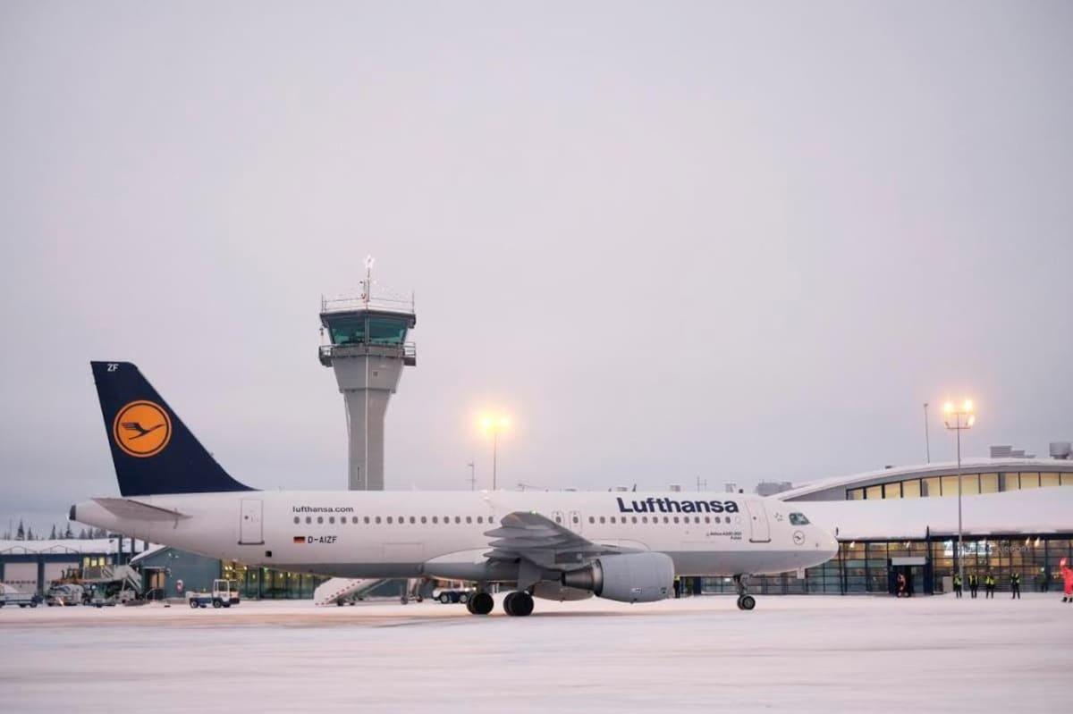 Lufthansan lentokone Kittilässä